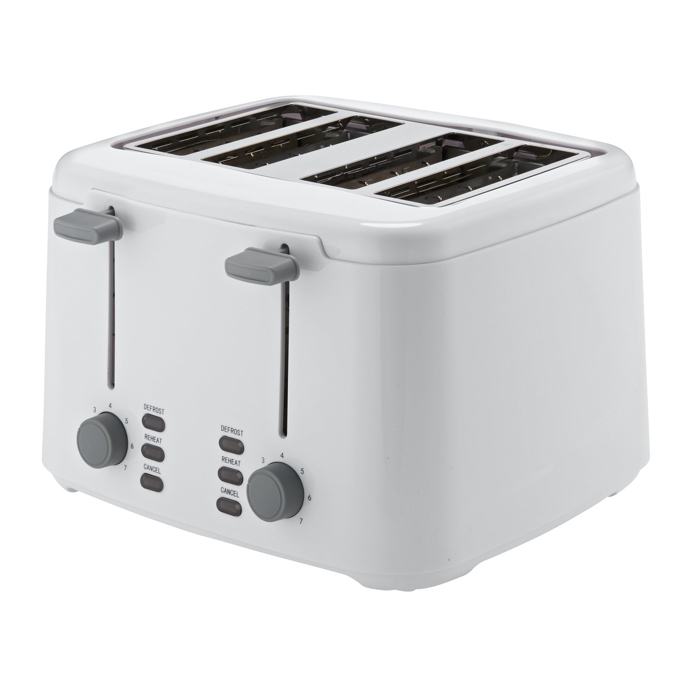 Cookworks 4 Slice Toaster - White
