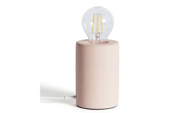 Habitat Matt Exposed Bulb Table Lamp - Pink