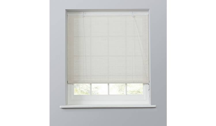 Argos Home Bamboo Roller Blind - 3ft - White