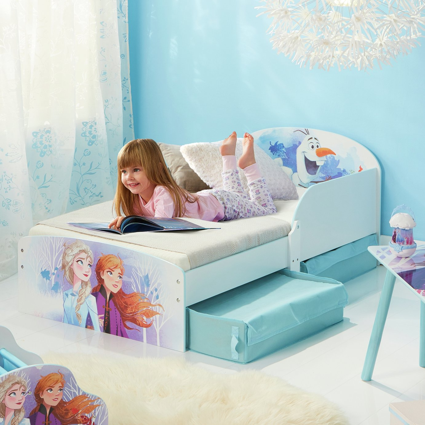 Disney Frozen Toddler Bed with Drawers