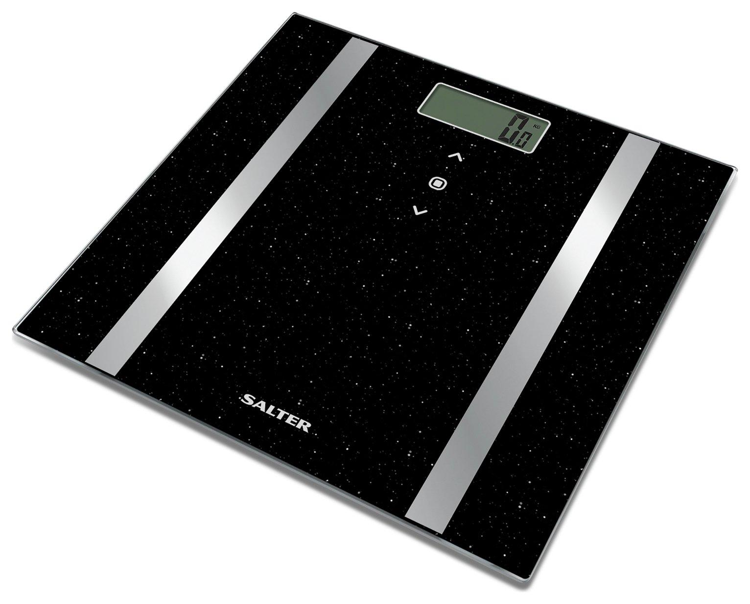 Salter Glitter Body Analyser Scale - Black