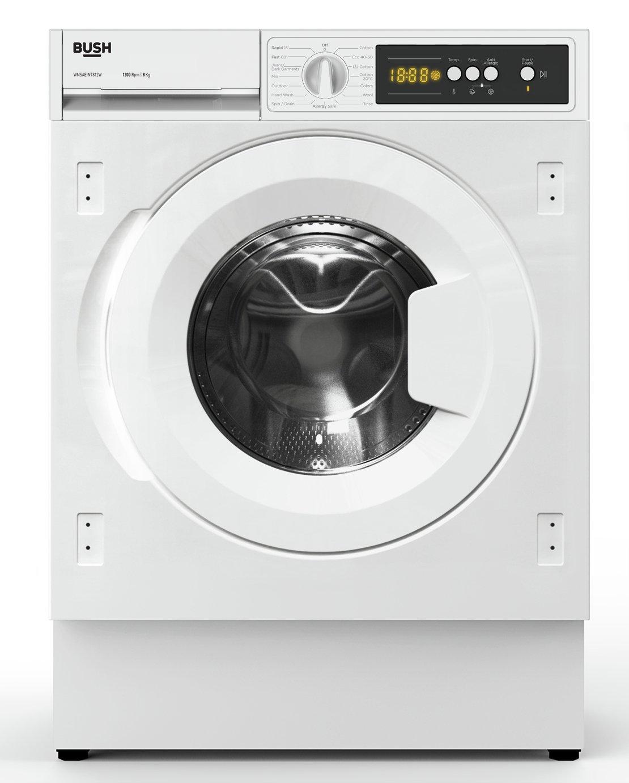 Bush WMSAEINT812W 8KG 1200 Spin Washing Machine - White