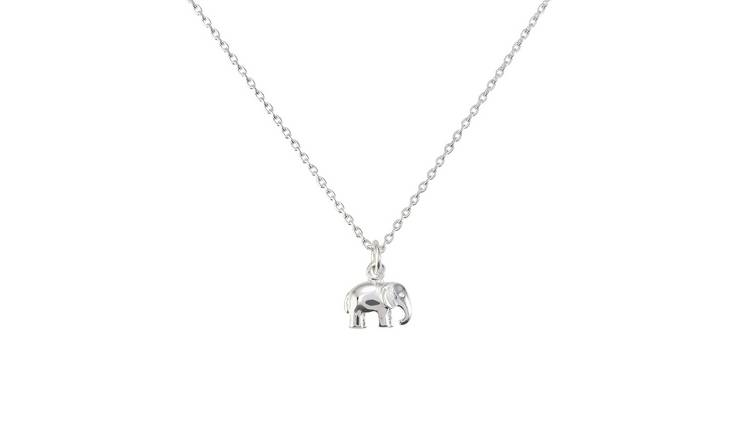 Revere Sterling Silver Elephant Pendant 14 Inch Necklace