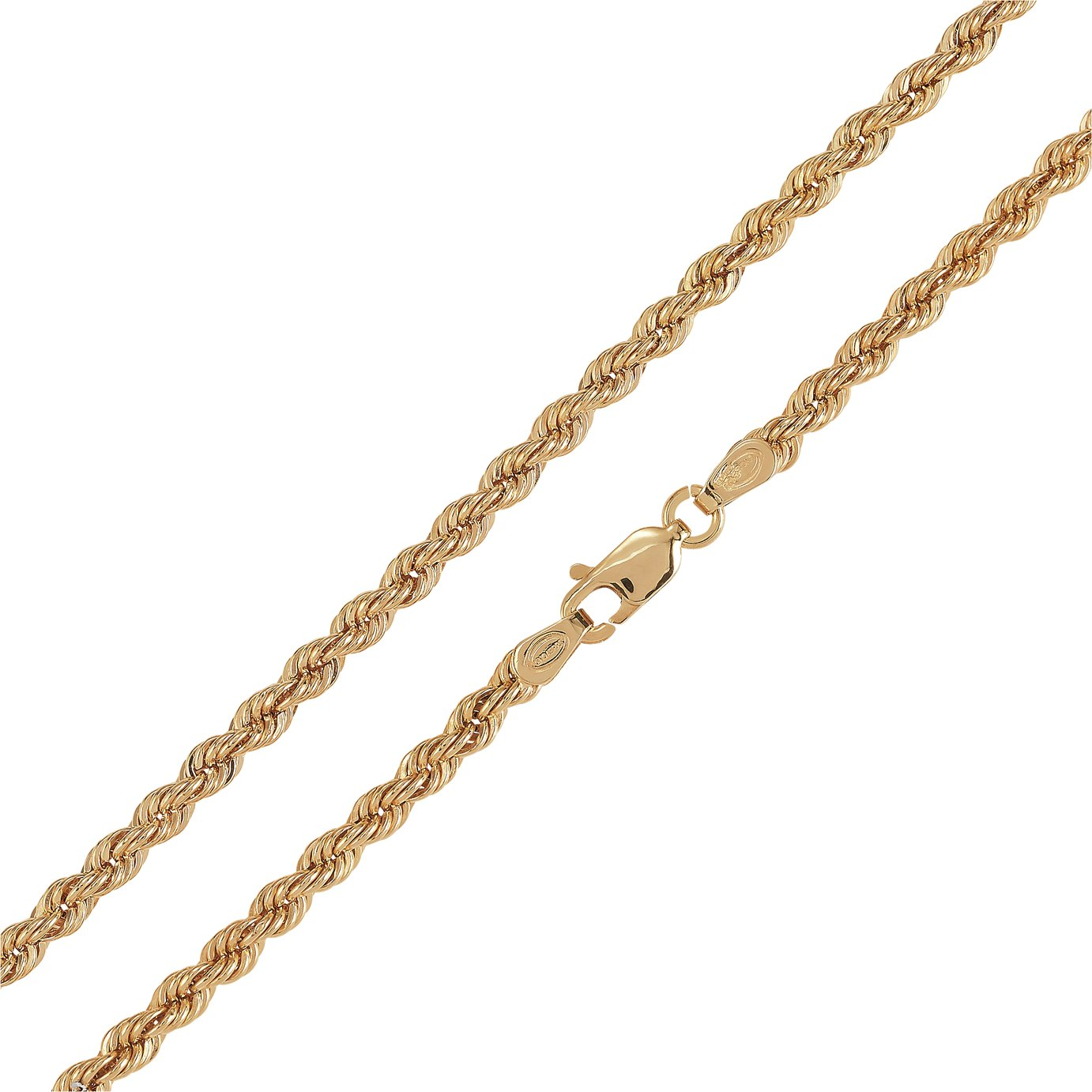 Revere 9ct Gold Hollow Rope 18 Inch Chain