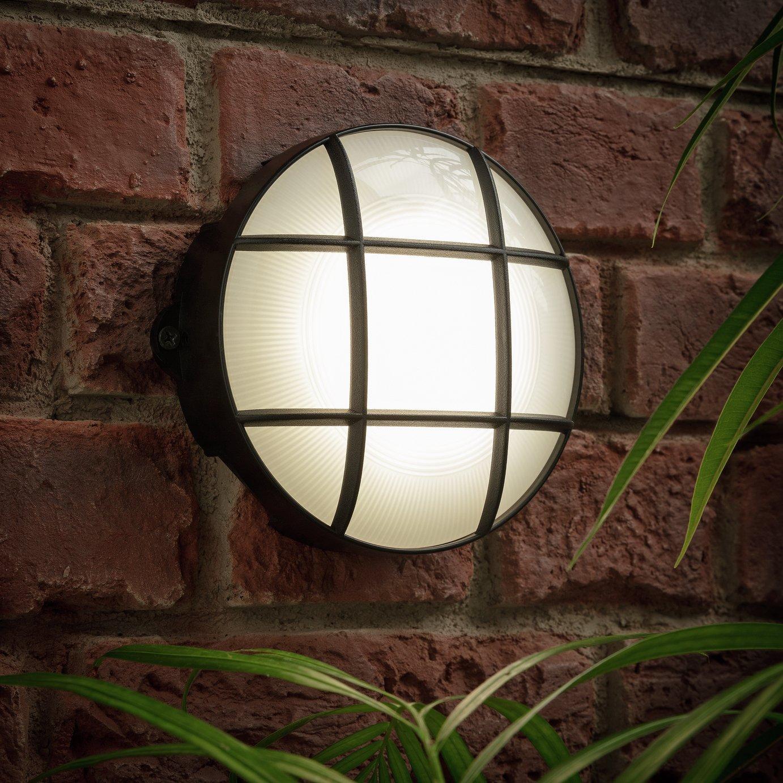 Coast Round Grid Bulkhead LED Outdoor Wall Light
