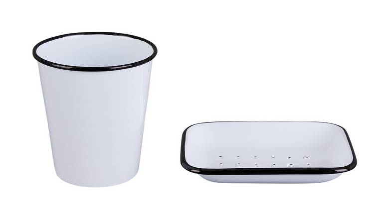 Habitat Nebraska Enamel Beaker and Soap Dish