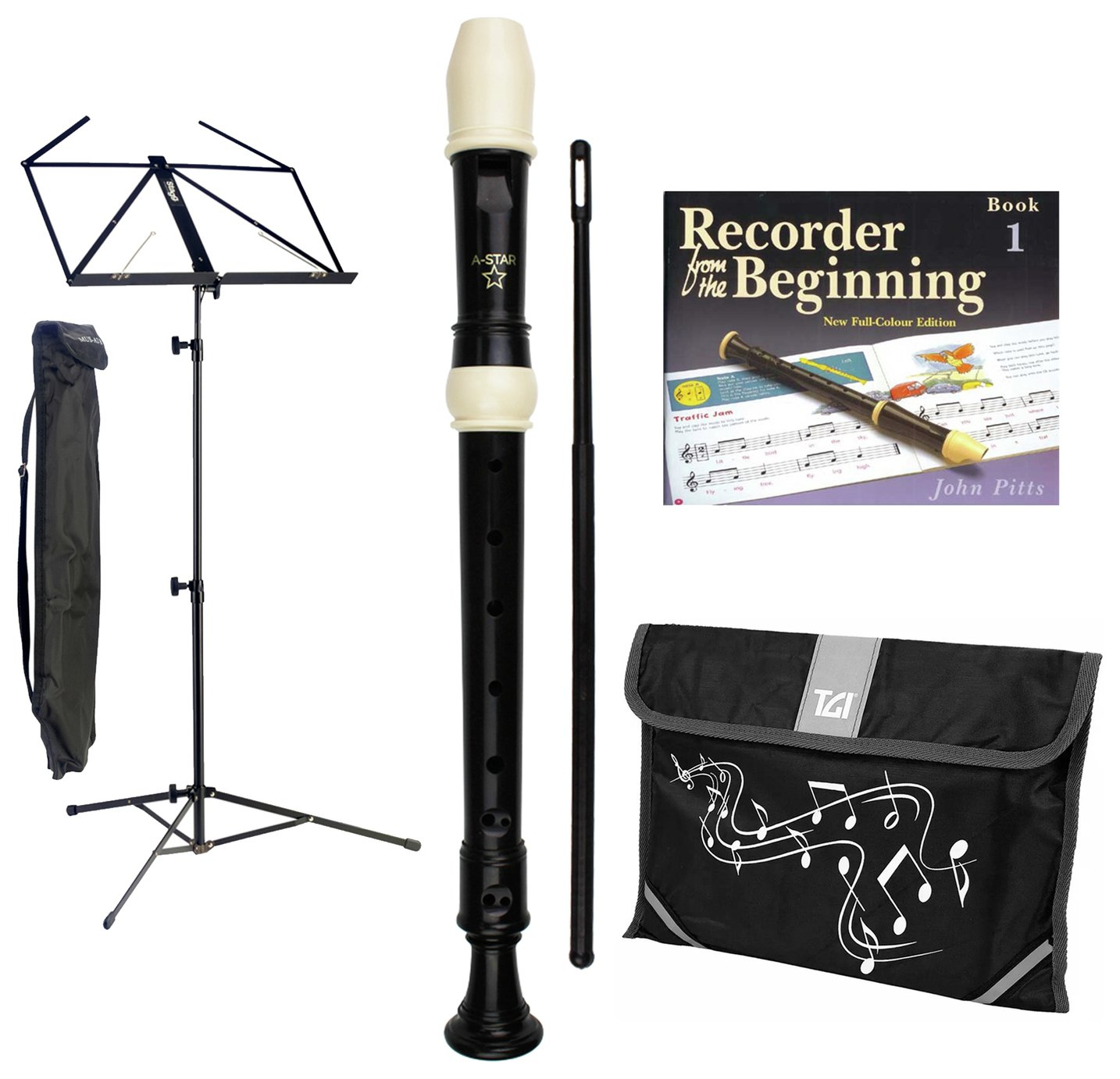 A-Star Recorder and Accessories Starter Bundle