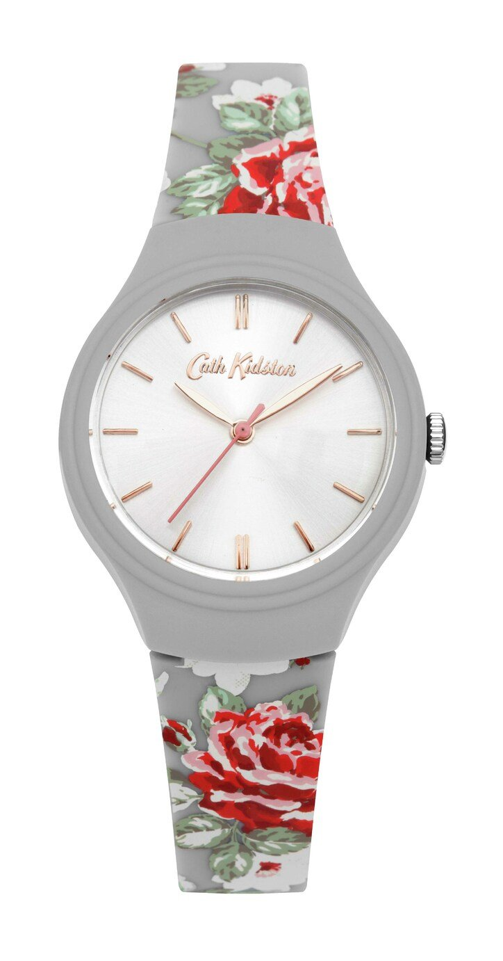 Cath Kidston Ladies Grey Silicone Strap Watch