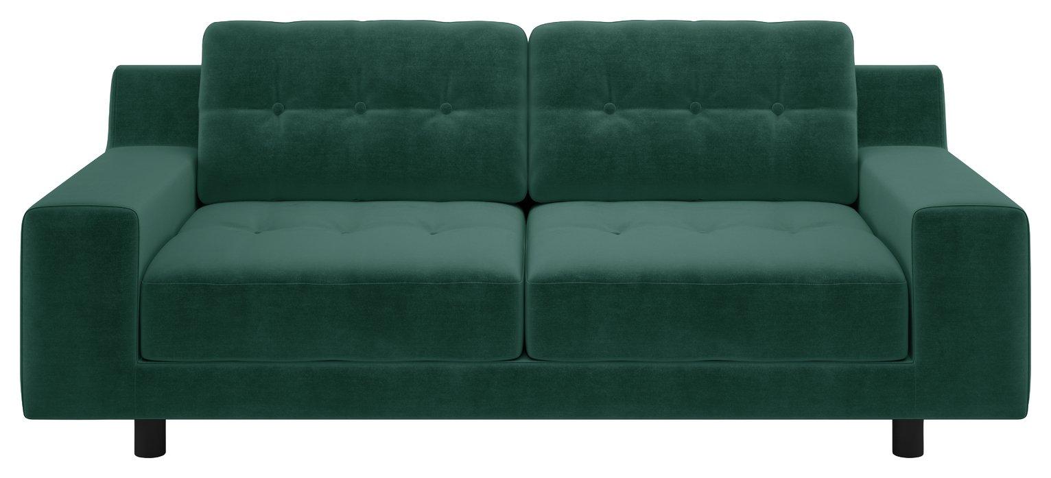Habitat Hendricks 2 Seater Fabric Sofa - Emerald Green