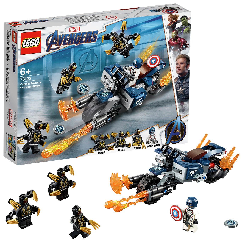 LEGO Marvel Avengers Captain America Outrider Attack - 76123
