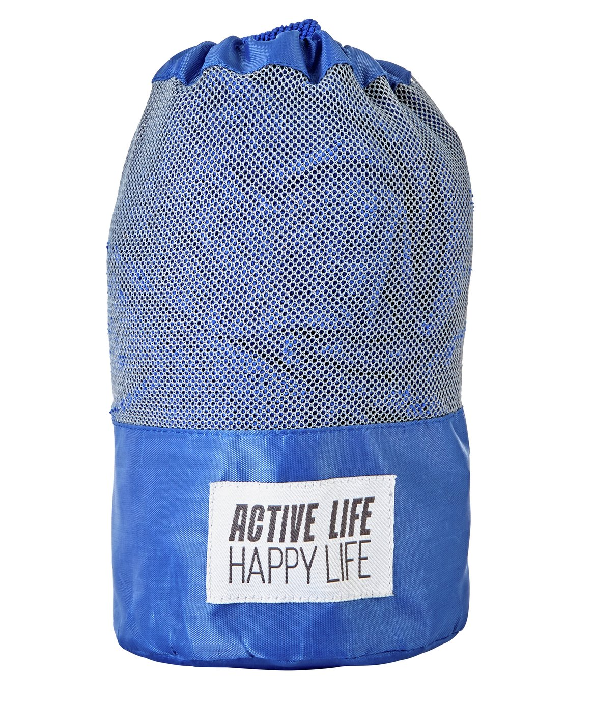 Active Life Happy Life Sports Towel - Blue