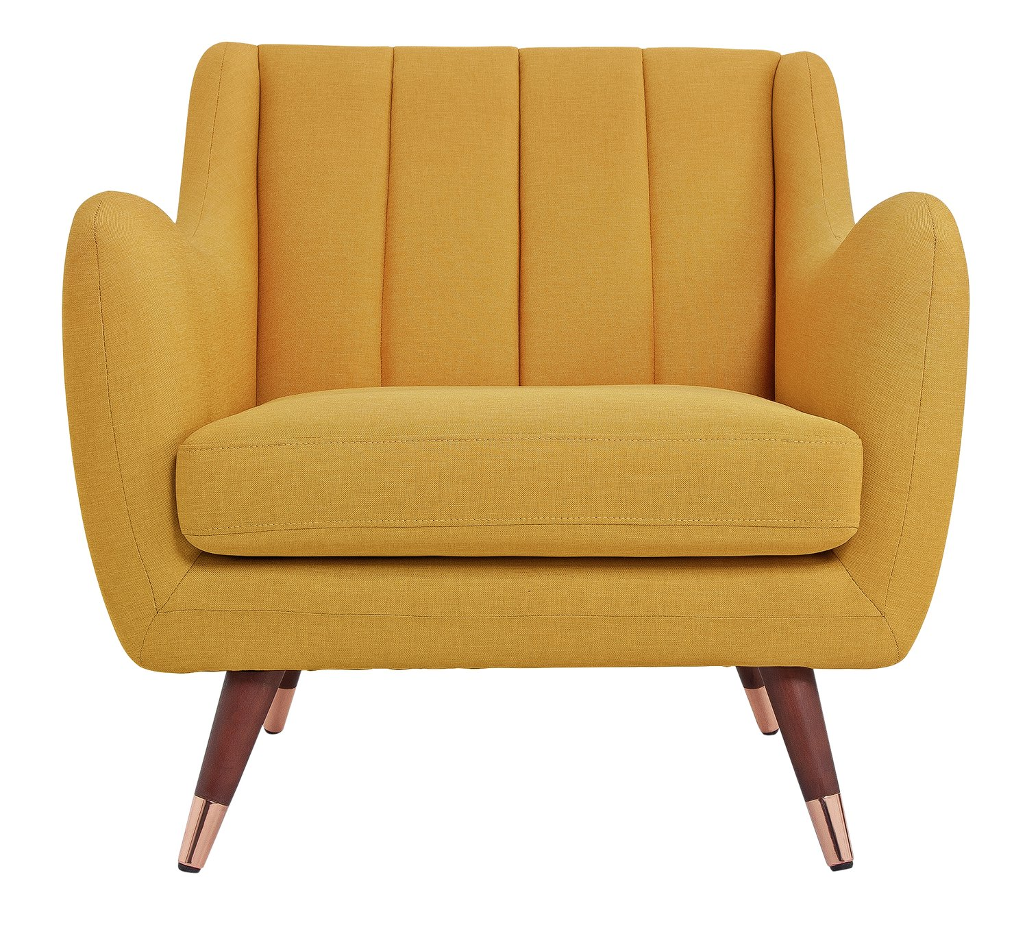 Argos Home Leila Fabric Armchair - Yellow
