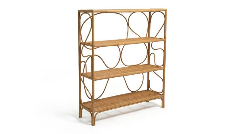 Habitat Rattan 4 Shelf Bookcase - Natural