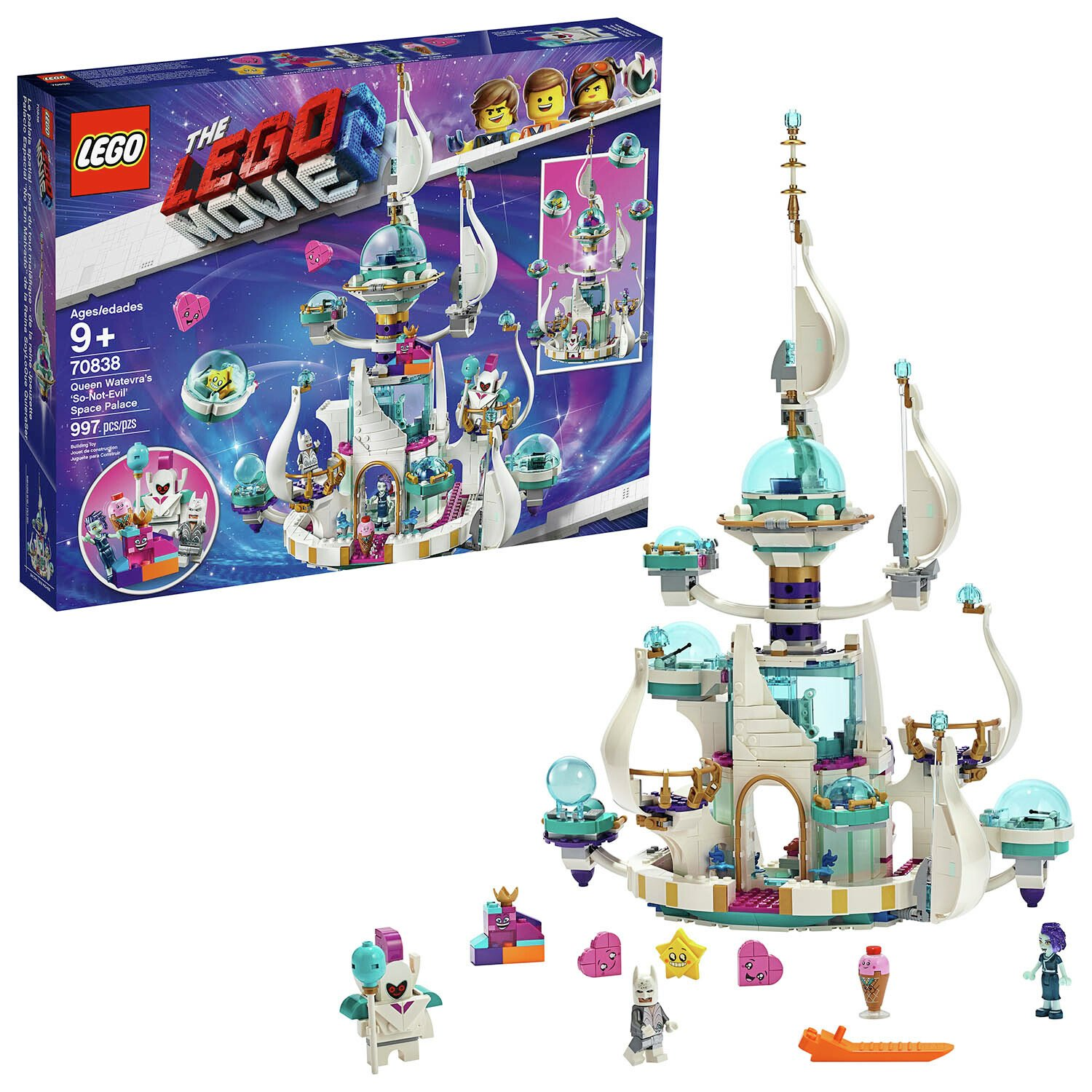 The LEGO Movie 2 Queen Watevra's Space Palace - 70838