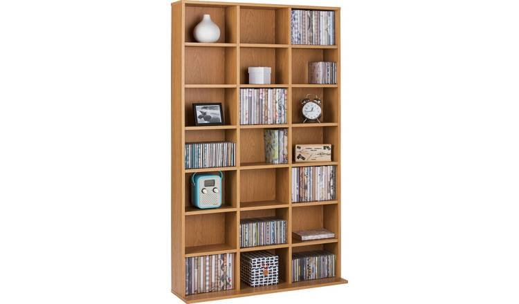 Argos Home Islington CD and DVD Media Storage - Oak Effect