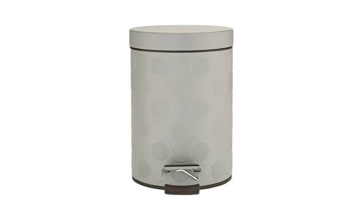 Argos Home 3 Litre Embossed Bathroom Pedal Bin