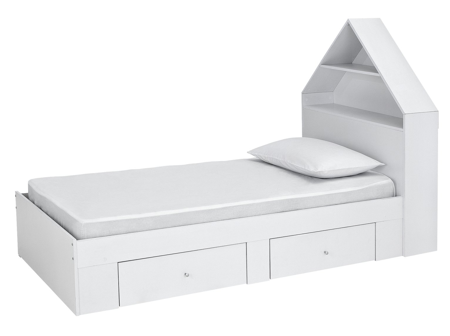 Argos Home House Cabin Bed & Mattress - White