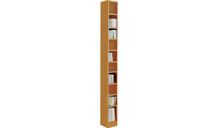 Argos Home Maine Tall CD and DVD Media Storage - Oak Effect