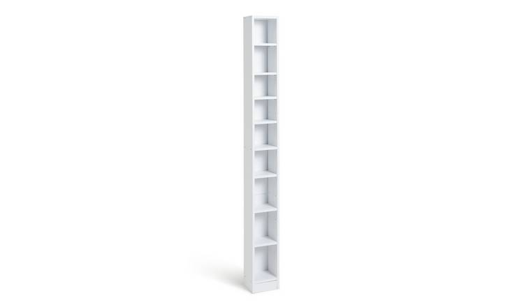 Habitat Maine Tall CD and DVD Media Storage Tower - White