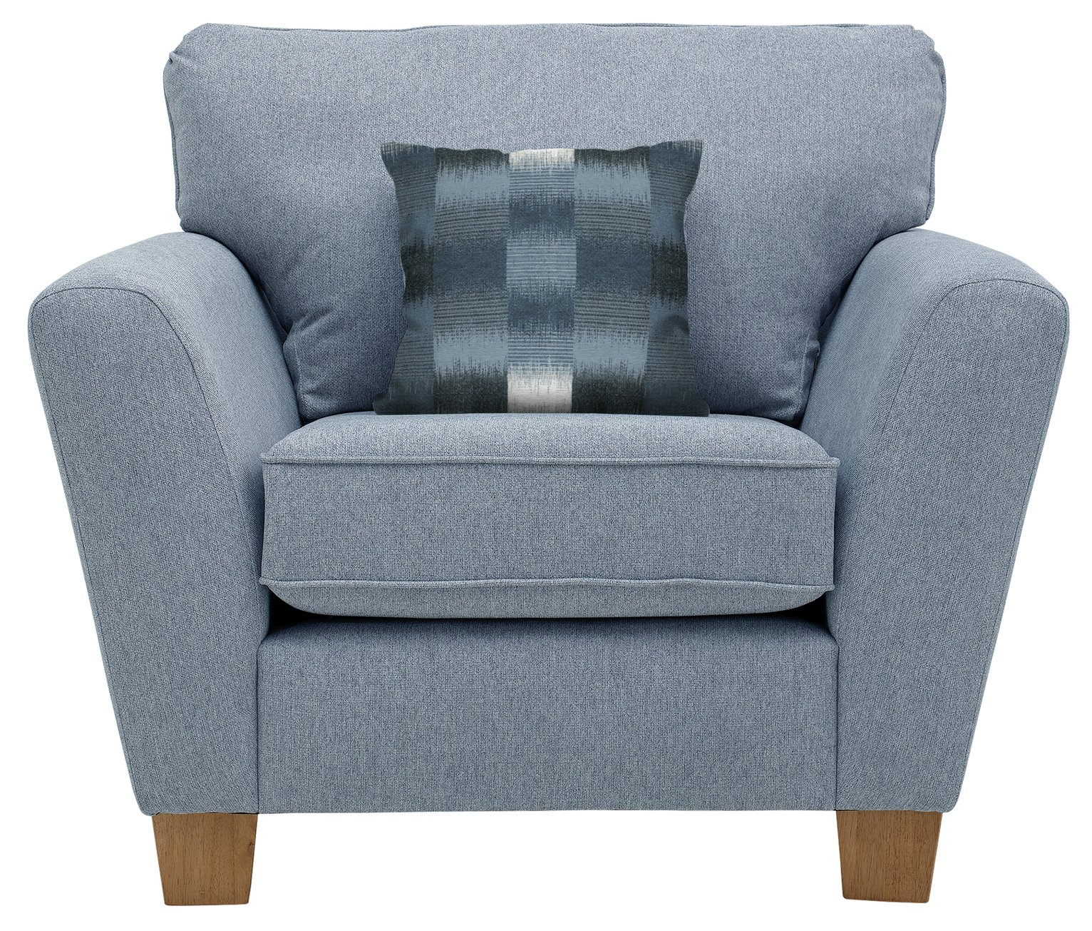 Argos Home Auria Fabric Armchair - Blue