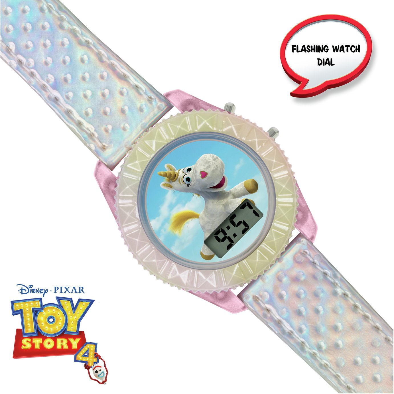 Disney Childrens Toy Story Unicorn White Plastic Strap Watch
