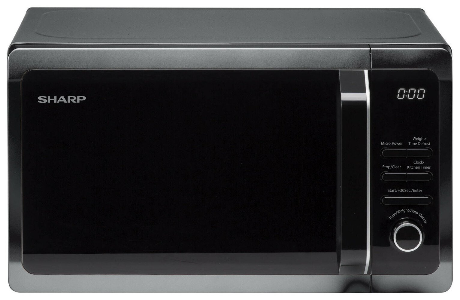 Sharp 800W Standard Microwave R274KM - Black