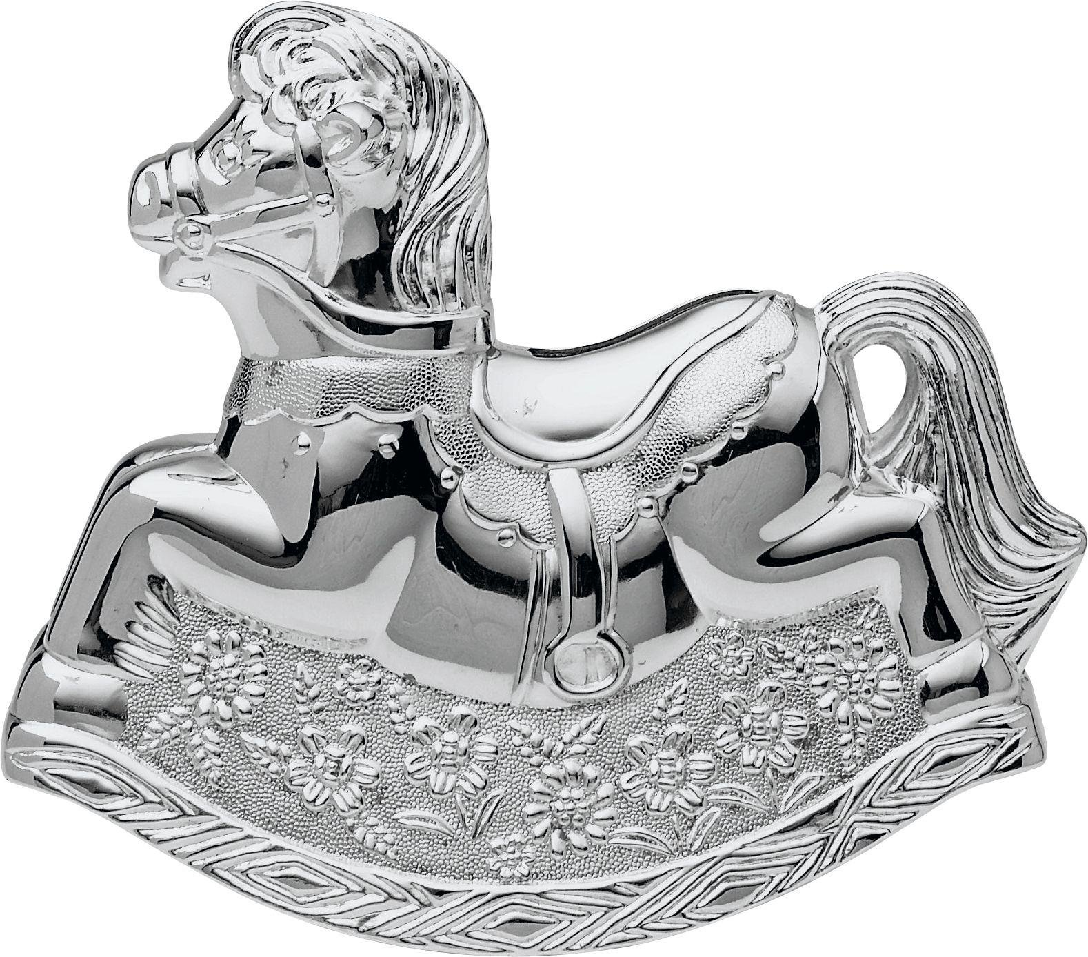 Little Ones - Silver Plated Rocking Horse Money Box