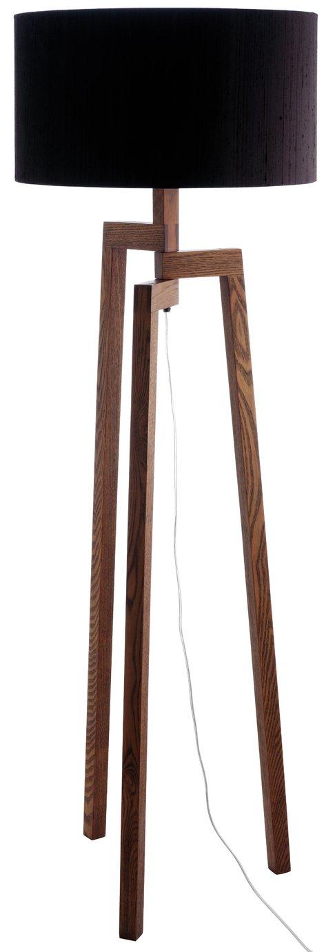 Habitat Dylan Wooden Floor Lamp - Walnut