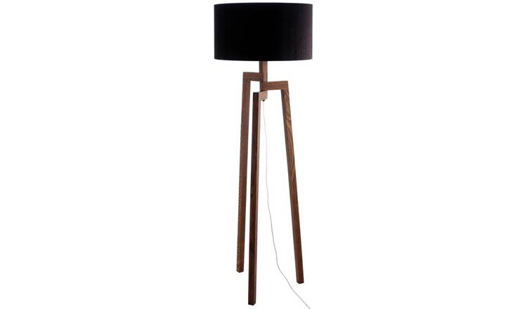 Habitat Dylan Wooden Floor Lamp - Walnut