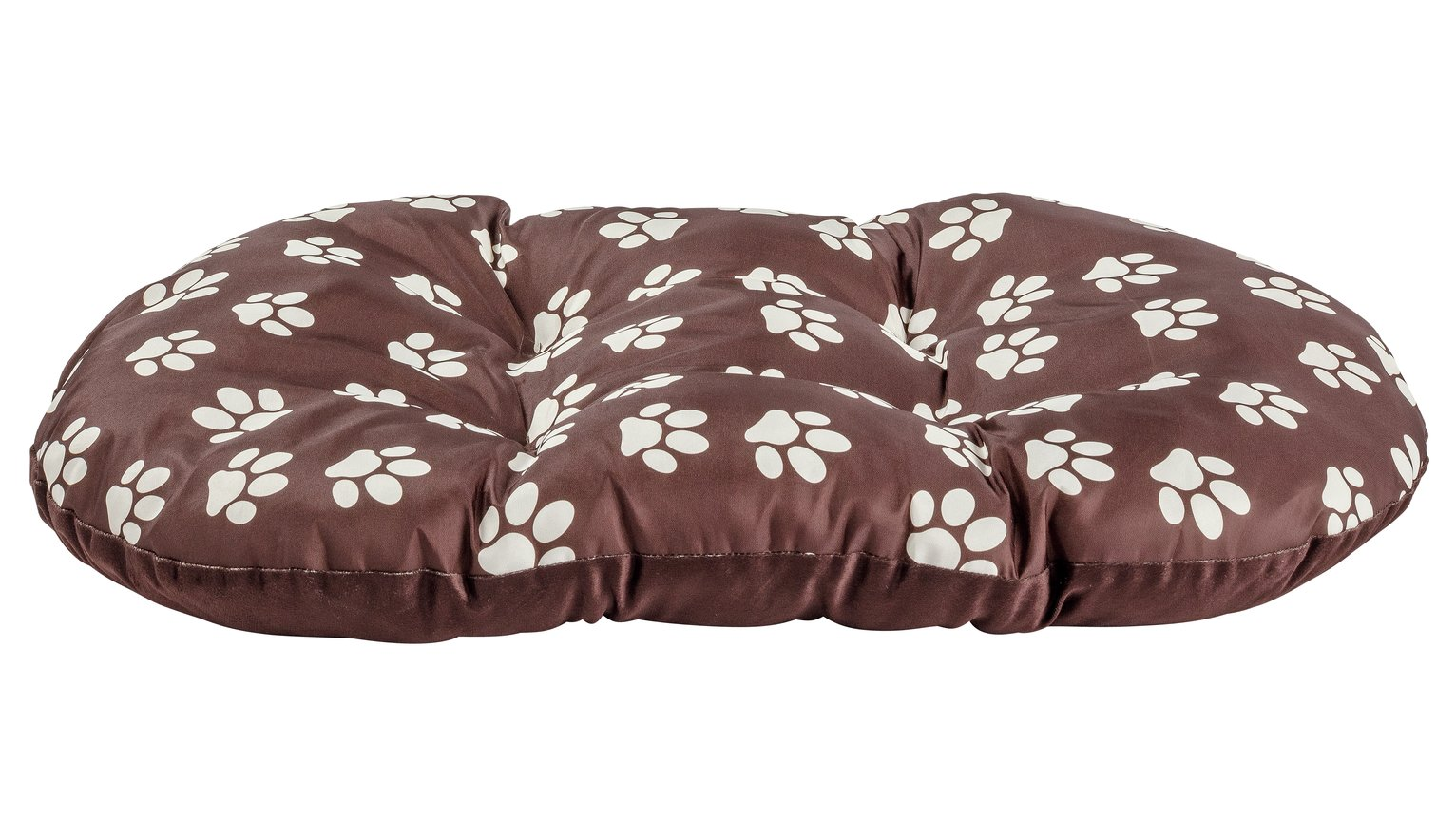 Paw Print Fleece Oval Cushion - Large
