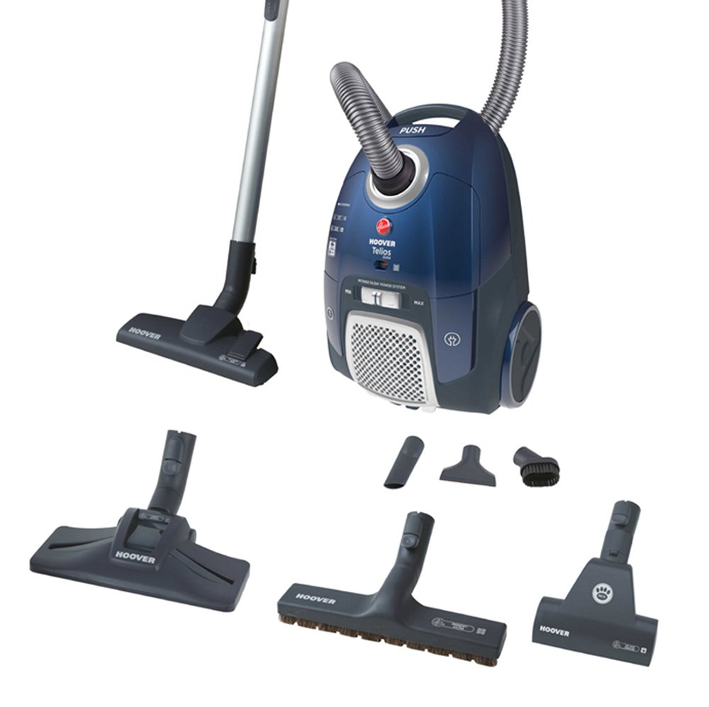 Hoover Telios Extra TX50PET Bagged Cylinder Vacuum Cleaner