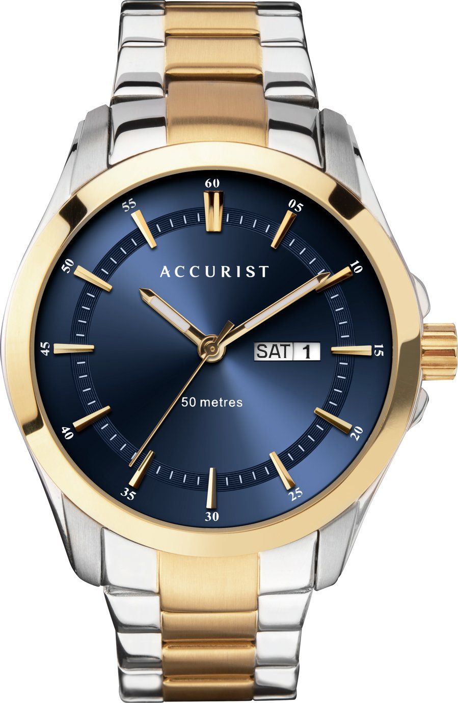 Accurist Men's Two Tone Stainless Steel Bracelet Watch