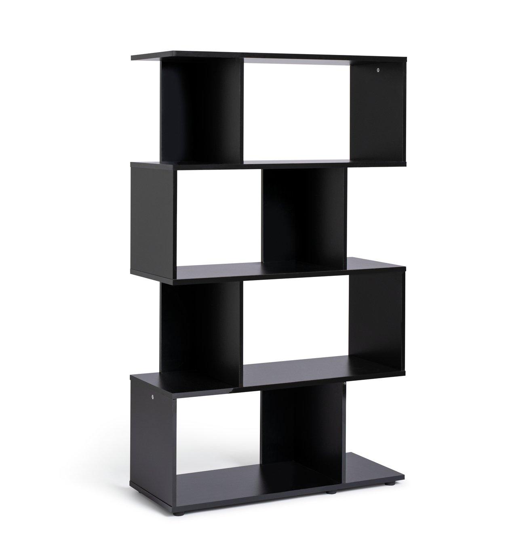 Habitat Hayward 5 Shelf Bookcase - Black Gloss