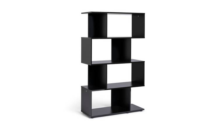 Habitat Hayward 5 Shelf Bookcase - Black Gloss