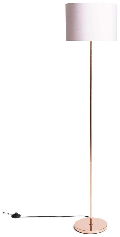 Argos Home Satin Stick Floor Lamp - Rose Gold & Blush Pink