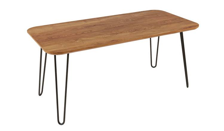 Argos Home Klark Hairpin Coffee Table - Dark Wood Effect