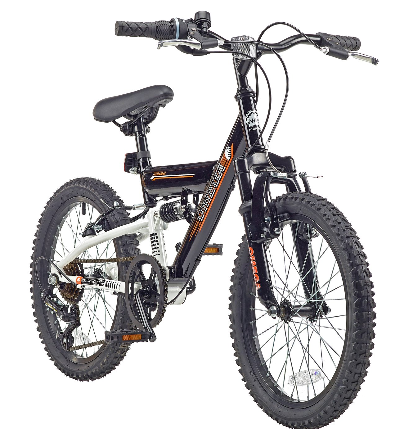 Piranha 18 Inch Omega Dual Suspension Kid's Mountain Bike