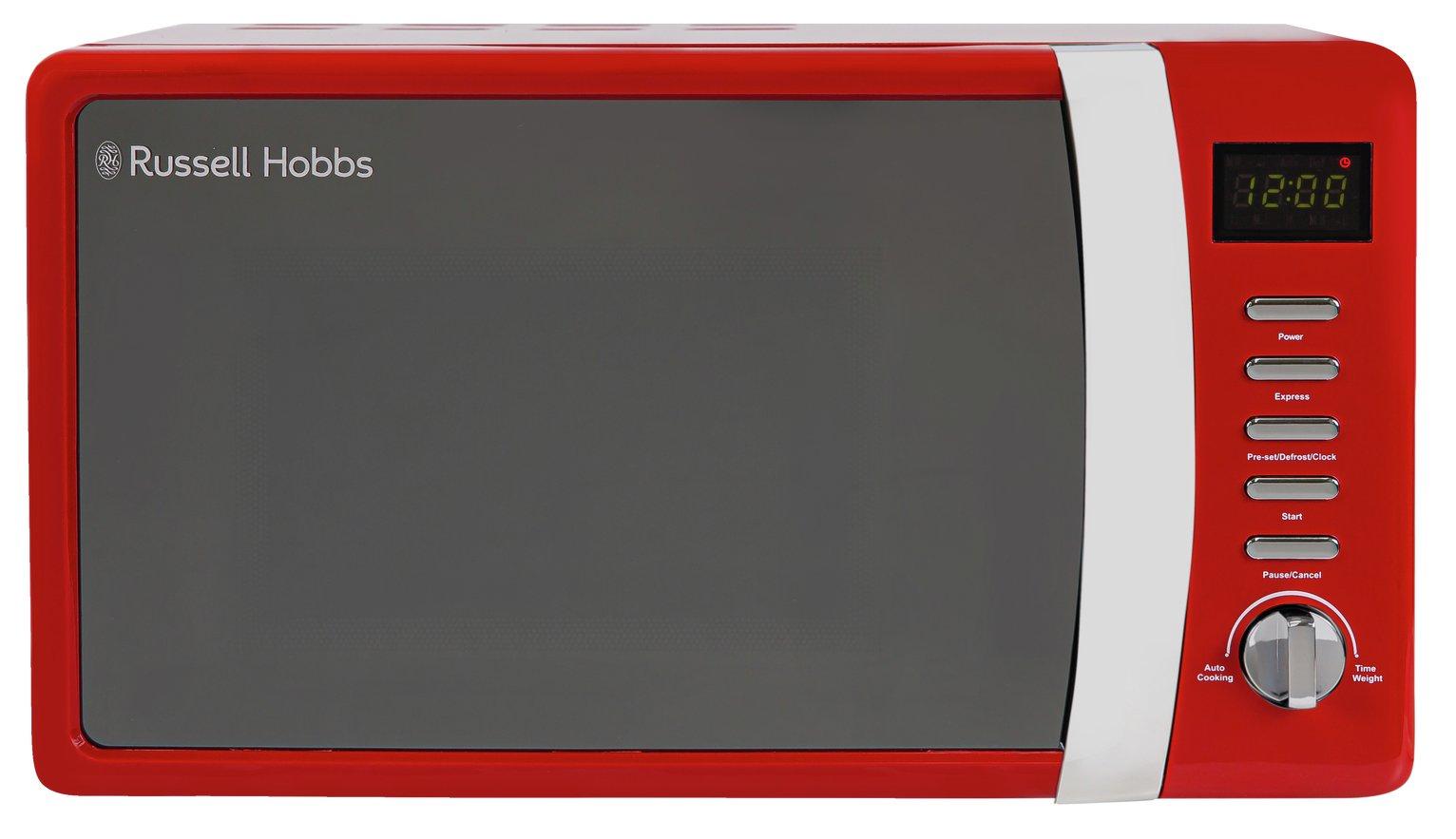 Russell Hobbs 700W Standard Microwave RHMD712 - Red