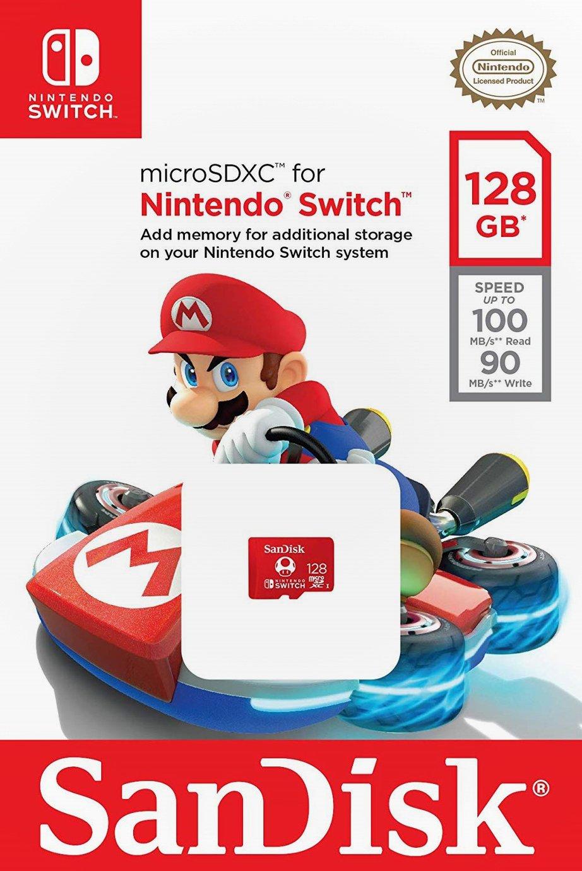 SanDisk 100MBs MicroSDXC Card for Nintendo Switch - 128GB