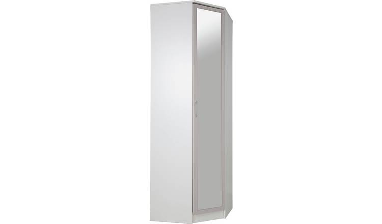 Argos Home Cheval 1 Door Mirrored Corner Wardrobe - Grey