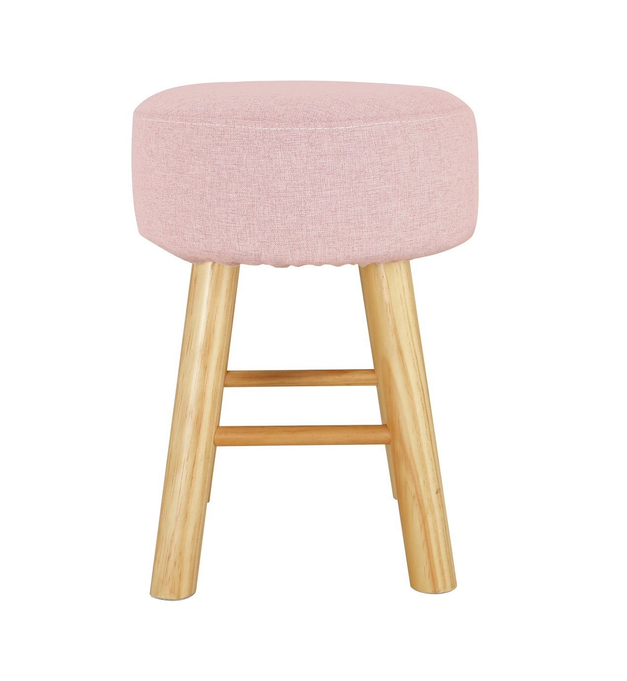 Argos Home Small Fabric Footstool - Pink