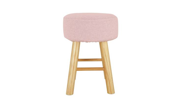 Habitat Sophie Small Fabric Footstool - Pink
