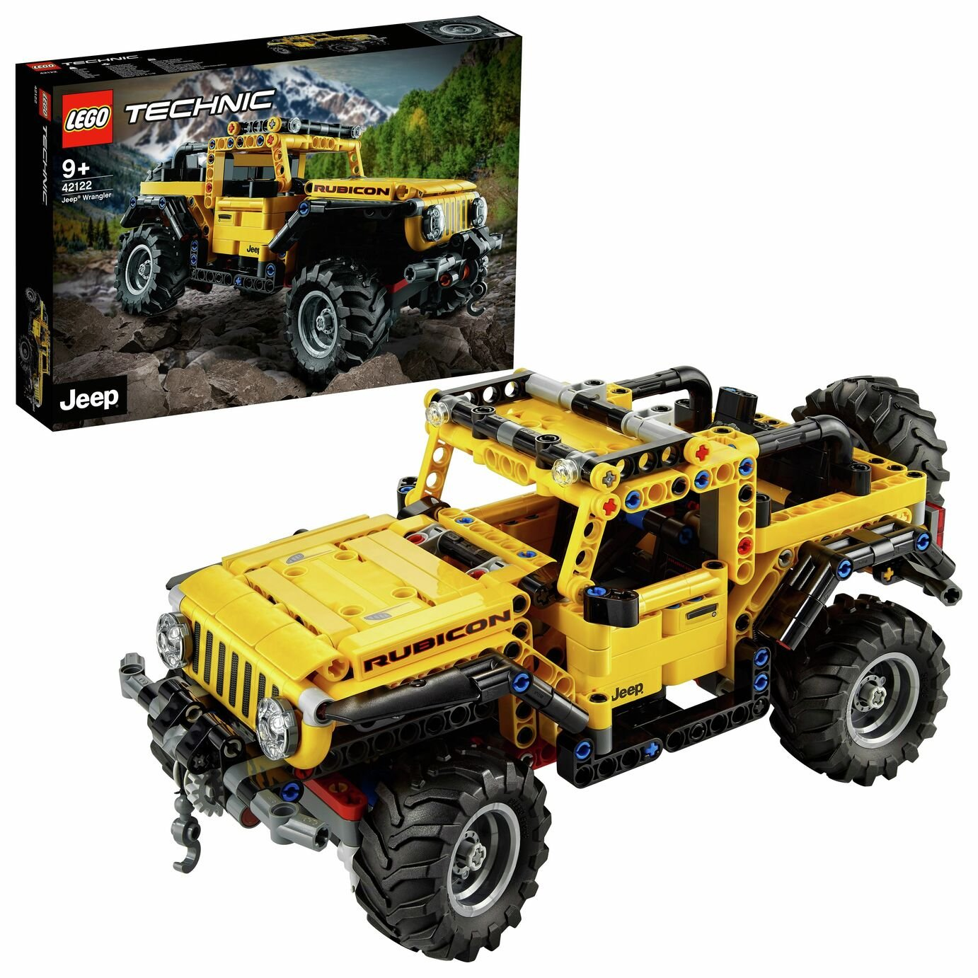 LEGO Technic Jeep Wrangler Rubicon Toy Car 42122