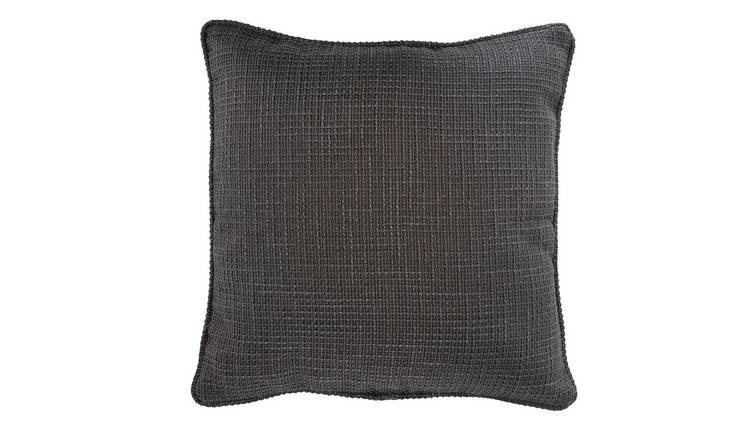 Argos Home Textured Weave Cushion - Black