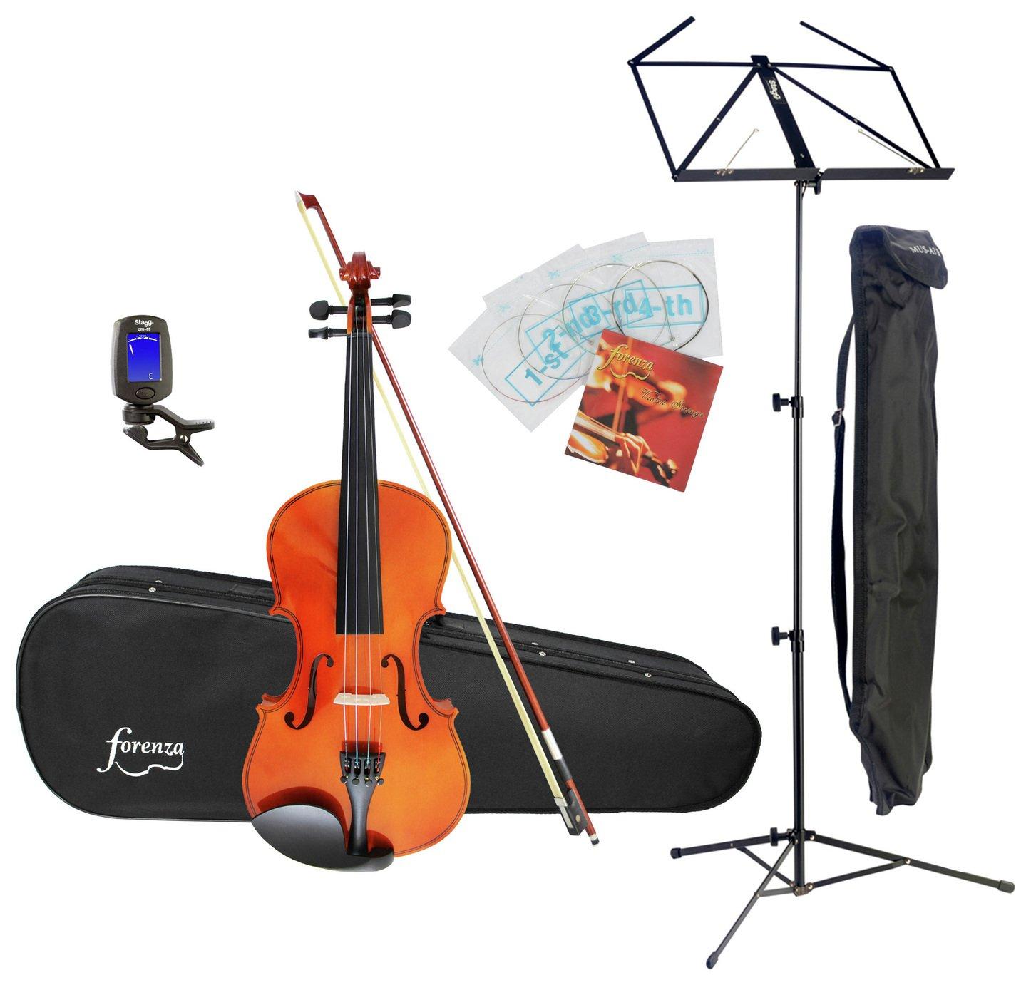 Forenza Uno Full Size Violin Starter Bundle