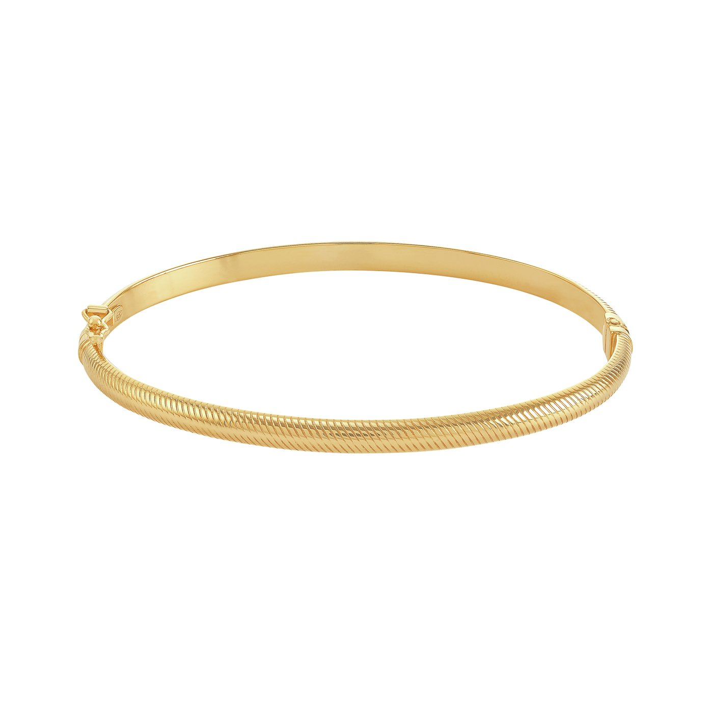 Revere 9ct Yellow Gold Textured Hinged Bracelet