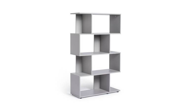 Habitat Hayward 5 Shelf Bookcase - Grey Gloss