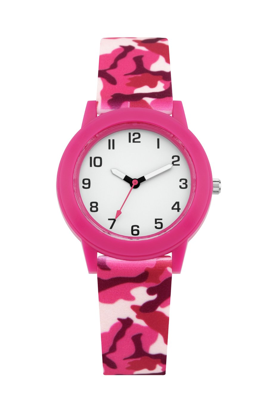 Little Tix Childrens Pink Camouflage Silicone Strap Watch
