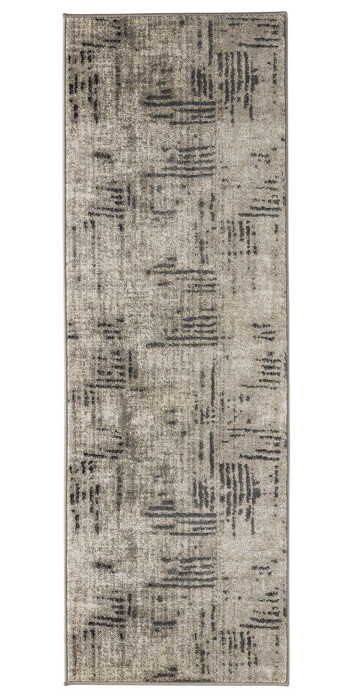 Argos Home Brushed Stripes Runner - 180x60cm - Grey