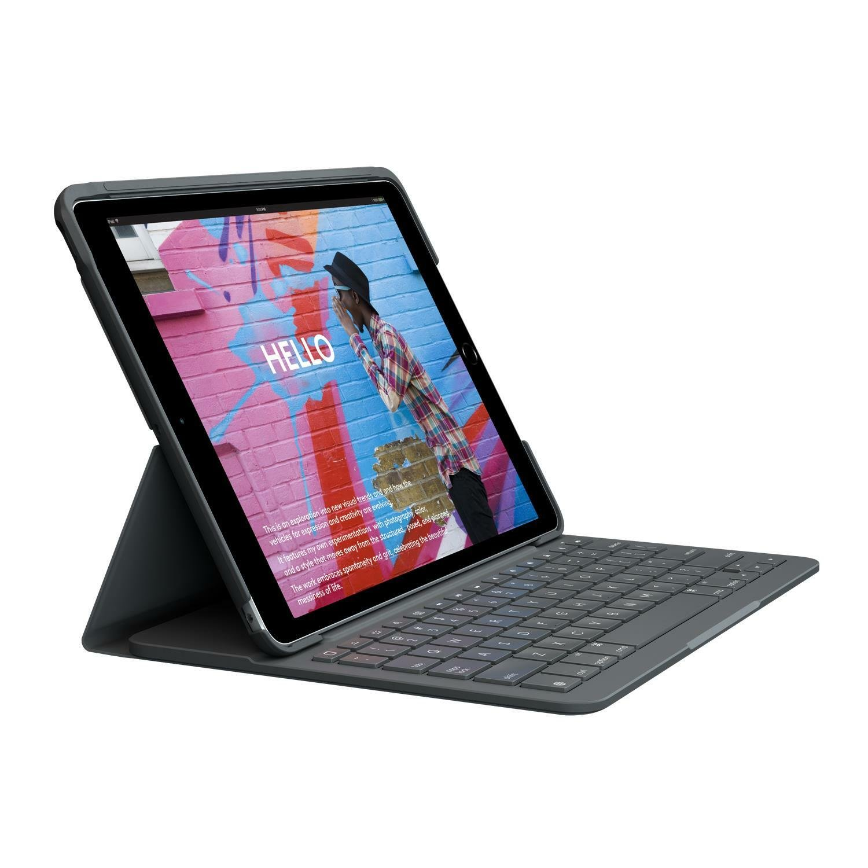 Logitech iPad 7th Gen Slim Folio Tablet Case - Grey